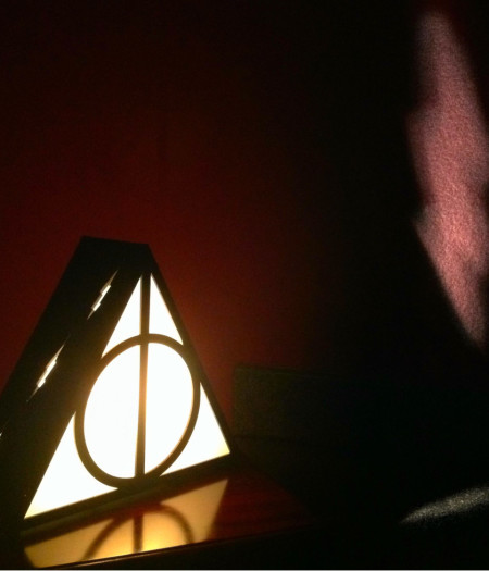 Harry Potter Deathly Hallows Lamp Projection