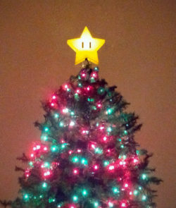 Super Mario Brothers Star Lamp Tree Topper