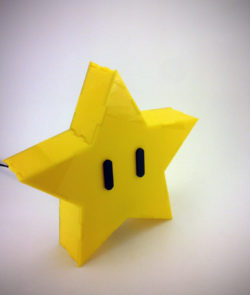 Super Mario Brothers Star Lamp Front